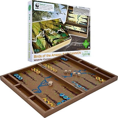 WWF Zoo Birds Wood Backgammon Set