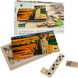 WWF African Cheetah Wood Dominoes Game