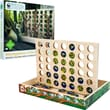 WWF Zoo Animals Madagascar 4 in A Row Wood Game