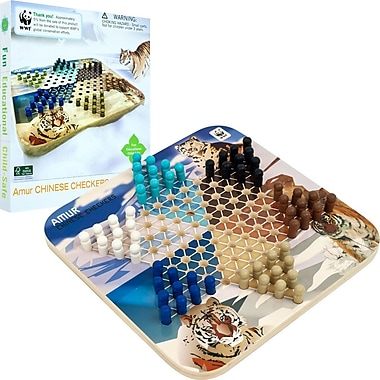 WWF Tigers Chinese Checkers Game