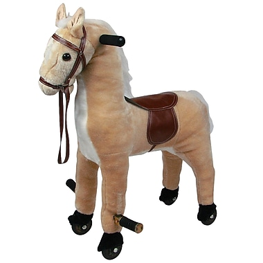 Happy Trails™ Plush Walking Horse With Wheels and Foot Rest