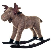 Happy Trails™ Plush Rocking Max Moose, Brown/Black