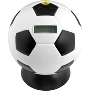 Soccer Ball Digital Coin Counting Bank, White/Black