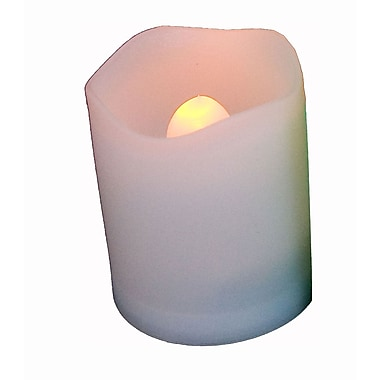 EcoGecko 12 Set Round Melted Edge Votive Flameless LED Candle With Remote