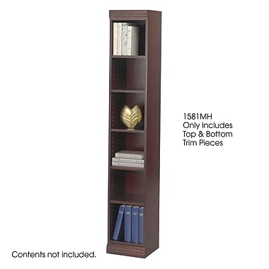 Safco® Baby 12in.W Solid Wood Bookcase Trim Kit, Mahogany