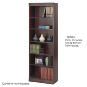 Safco® Baby 24W Solid Wood Bookcase Trim Kit, Mahogany
