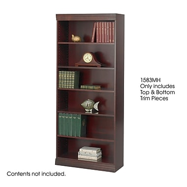 Safco® Baby 30in.W Solid Wood Bookcase Trim Kit, Mahogany