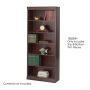 "Safco® Baby 30""W Solid Wood Bookcase Trim Kit, Mahogany"
