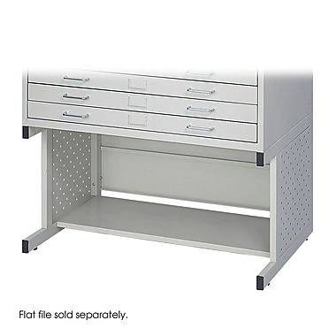Safco® Facil Steel Flat File High Base, Small, Light Gray