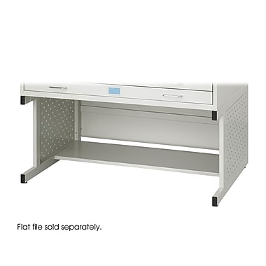 Safco® Facil Steel Flat File High Base, Medium, Light Gray