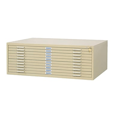Safco® Graphic Arts 10-Drawer Steel Flat File For 30in. x 42in. Documents, Tropic Sand