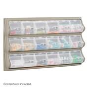Safco® 18 Pocket Highly Visible Plastic Panel Bins, Gray