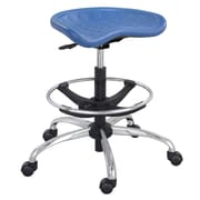 Safco® SitStar™ Polyurethane Stool With Chrome Base, Blue