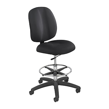 Safco Height-Adjustable Polyester Office Chair, Armless, Black