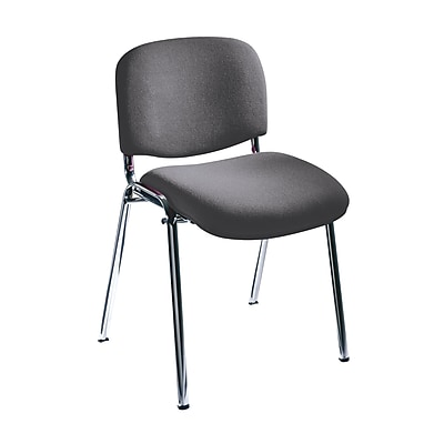 Safco Acrylic Stacking Chair, Gray 278934