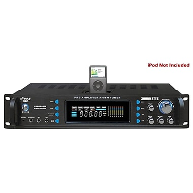 Pyle® P2002ABTI 2000 W Hybrid Receiver/Preamplifier With AM-FM Tuner/iPod Docking Station/Bluetooth