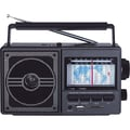 Supersonic® SC-1089 11 Band AM/FM/SW 1-9 Radio With USB and SD Card Slot, Black