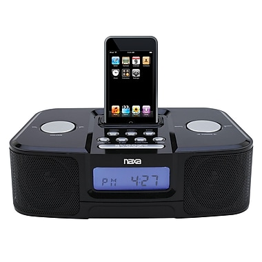 Naxa® NI-3103 Digital Alarm Clock Radio With Dock for iPod, Black