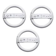 GameFitz GF-1018-3 Steering Wheel For Nintendo Wii, White, 3 Pack