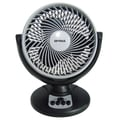 Optimus F-7098 8in. Oscillating Turbo High Performance Air Circulator, Black/ Gray