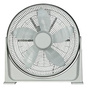 "Optimus F-7200 20"" 90 deg Pivot Turbo High Performance Air Circulator, White"
