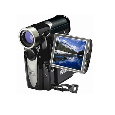 Mitsuba Black 12MP 4x Digital Zoom Camera/Camcorder, 4.72in.Hx2.2in.Wx3.85in.D