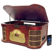 Pyle® PTCDS1U Classical Turntable With AM/FM Radio CD/Cassette & USB Recording, 33 1/3/45/78 RPM