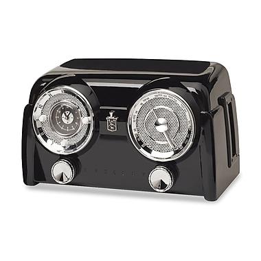 Crosley Radio CR52 Coloradio Side-Mounted Cassette Deck Radio, Black