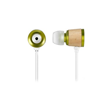 Zenex® Wooden Chamber Boost Headphones, Green