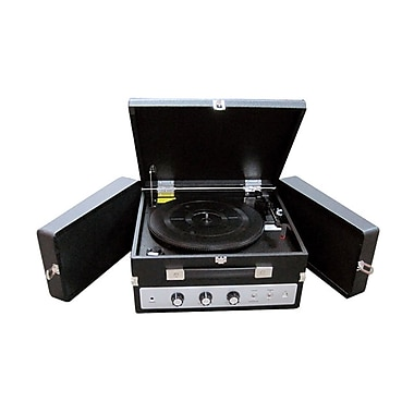 Pyle® PLTTB8UI Classical Turntable W/PC Encoding/iPod Player/Aux Input & Dual Speaker, 33/45/78 RPM