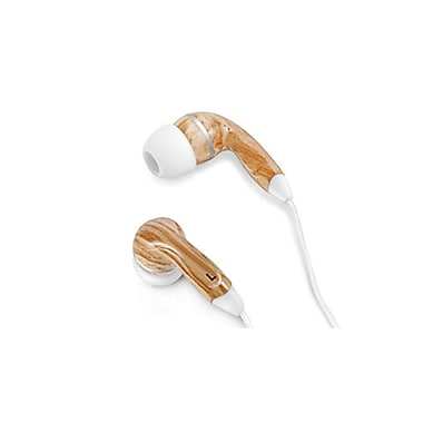 Zenex® Graphic Collection Wood Headphones, White