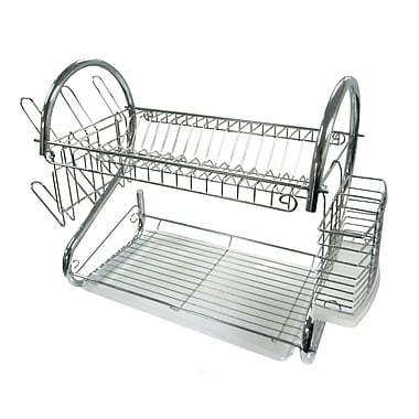Better Chef® 22in. Steel Dish Rack, Chrome