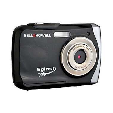 Bell & Howell® Splash 8x Digital Zoom Waterproof Digital Camera, 12 Mega Pixels, Black