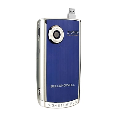 Bell & Howell Blue 8MP HD Digital Video Camera Camcorder, 5 1/4in.D