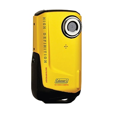 Coleman® Yellow 8MP Xtreme Waterproof HD Digital Video Camera Camcorder, 2.2in.Hx4.0in.Wx0.8in.D