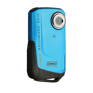 Coleman® Blue 8MP Xtreme Waterproof 1080p HD Digital Video Camera Camcorder, 2.2in.Hx4.0in.Wx0.8in.D