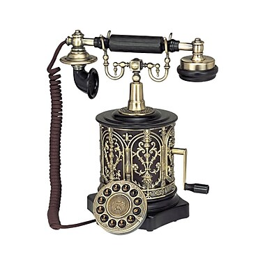 Paramount 93576018M Single Line Corded Vintage Style Telephone, Black
