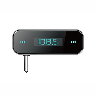 SuperSonic 93576081M Hands Free FM Transmitter for MP3, MP4 Players and Smartphones, Black