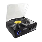 Pyle® PTTC4U Multifunction Turntable With MP3 Recording/USB to PC/Cassette Playback, 33/45/78 RPM