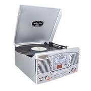 Pyle® PTCD8US Retro Style Turntable With CD/Radio/USB/SD/MP3/WMA & Vinyl - MP3 Encoding, 33/45 RPM