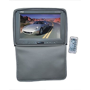 Pyle® PL1101HR Adjustable Headrest Built In 11in. TFT/LCD Monitor With IR Transmitter and Cover, Gray