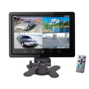 Pyle® PLHRQD7 7 Quad TFT/LCD Video Monitor With Headrest Shroud BNC and RCA Connector, Black