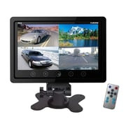 "Pyle® PLHRQD9 9"" Quad TFT/LCD Video Monitor With Headrest Shroud BNC and RCA Connector, Black"