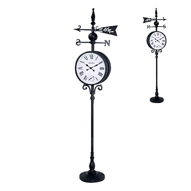 Seth Thomas WBR002651 Weather Station Standing Clock, Black