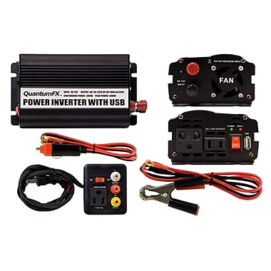 QFX 300 W Inverter With USB/Game Port, Black
