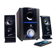 Supersonic® SC-1120 2.1 Multimedia Speaker System With USB/SD Inputs, Black