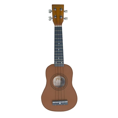 Pyle® 21in. Soprano Ukelele With Bag, Picks, Maple/Brown