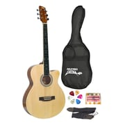 "Pyle® 39"" Beginner Jamer Acoustic Guitar With Carrying Case and Accessories"