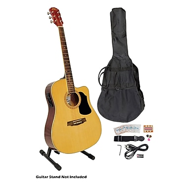 Pyle® 41in. Acoustic-Electric Guitar Packages With Gig Bag/Strap/Picks/Tuner and Strings