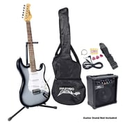 Pyle® Beginner Electric Guitar Package, Black
